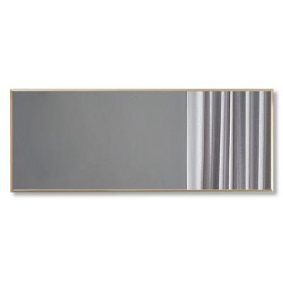 Зеркало прямоугольное в алюминиевой раме M-200 (120х40)