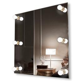 Зеркало с подсветкой гримёрное ЗП-12 (60х60)