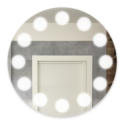 Зеркало с подсветкой круглое ЗП-79 (D 65)