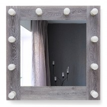 Зеркало с подсветкой гримёрное ЗП-97 (70х70)